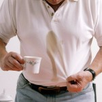 Treat coffee stains immediately for best results.
