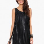 Leather Fringe Dress